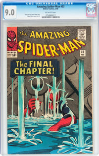 The Amazing Spider-Man #33 (Marvel, 1966) CGC VF/NM 9.0 Off-white pages