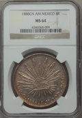 Mexico, Mexico: Republic 8 Reales 1888 Cn-AM MS64 NGC,...