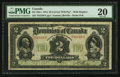 Canadian Currency: , DC-22a-i $2 1914. ...