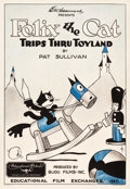 "Movie Posters:Animation, Felix the Cat Trips Thru Toyland (Educational Film Exchange, 1925). One Sheet (28"" X 40.5"").. ..."