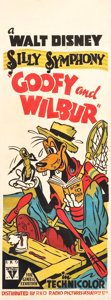 "Movie Posters:Animated, Goofy and Wilbur (RKO A'sia, 1939). Pre-War Australian Daybill (15""X 40"").. ..."