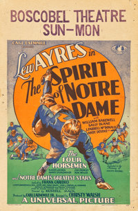 "The Spirit of Notre Dame (Universal, 1931). Window Card (14"" X 22"")"