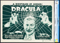 "Movie Posters:Horror, Dracula (Universal, R-1947). CGC Graded Title Lobby Card (11"" X14"").. ..."