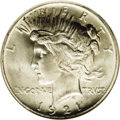 Peace Dollars: , 1921 $1 MS67 NGC. In addition to being the first year of issue forthe new Peace dollar desig...