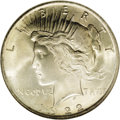 Peace Dollars: , 1922 $1 MS67 NGC. Ex: Binion Collection. The mintage for the 1922Peace dollar was enormous w...