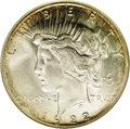 Peace Dollars: , 1922-S $1 MS66 NGC. As with most S-mint Peace dollars, the mostimportant determinant of grad...