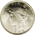 Peace Dollars: , 1923 $1 MS67 NGC. The 1923 Peace dollar is a high mintage issue,like the 1922, with a mintag...