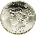 Peace Dollars: , 1926 $1 MS67 NGC. Like several Peace dollar issues, the 1926 has alow mintage. In this case,...