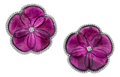 Estate Jewelry:Earrings, Pink Tourmaline, Diamond, White Gold Earrings. ...