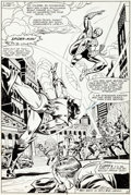 Original Comic Art:Splash Pages, Herb Trimpe and Mike Esposito Marvel Team-Up #107 SplashPage 6 Original Art (Marvel, 1981)....