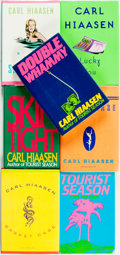 Books:Literature 1900-up, Carl Hiaasen. Group of Seven First Editions, Three SIGNED/ INSCRIBED. Various publishers, 1987 -2004.... (Total: 7 Items)