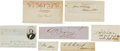 Military & Patriotic:Civil War, Confederate Statesmen: Cut Signatures.... (Total: 7 )