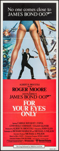 "Movie Posters:James Bond, For Your Eyes Only (United Artists, 1981). International Insert (14"" X 36""). James Bond.. ..."