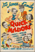 "Movie Posters:Comedy, Quick Millions (20th Century Fox, 1939). One Sheet (27"" X 41""). Comedy.. ..."