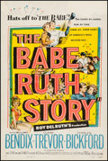 "Movie Posters:Sports, The Babe Ruth Story (Allied Artists, 1948). One Sheet (27"" X 41""). Sports.. ..."
