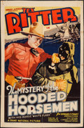 "Movie Posters:Western, The Mystery of the Hooded Horsemen (Grand National, 1937). Trimmed One Sheet (26.25"" X 40.5""). Western.. ..."