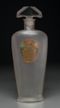 Art Glass:Other , Richard Hudnut Frosted Glass Three Flowers Perfume DisplayBottle . Circa 1910. Ht. 23-3/8 in.. ...