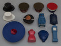 Art Glass:Other , Twelve Figural Compacts and Cosmetic Cases. Circa 1940-1950..Including Evening in Paris, Bourjois, Mischief, Saville. Ht. 4...(Total: 12 Items)