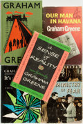 Books:Mystery & Detective Fiction, Graham Greene. Group of Five Books. Various publishers, 1944 -1997. . ... (Total: 5 Items)