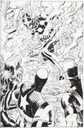 Original Comic Art:Splash Pages, John Romita Jr. and Scott Hanna Avengers vs. X-Men #1 SplashPage 13 Original Art (Marvel, 2012)....