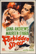 "Movie Posters:Drama, The Forbidden Street (20th Century Fox, 1949). One Sheet (27"" X 41""). Drama.. ..."