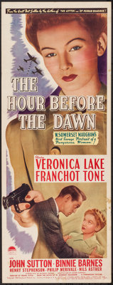 "The Hour Before the Dawn (Paramount, 1944). Insert (14"" X 36""). War"