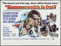 """Hammersmith Is Out (Cinerama Releasing, 1972). British Quad (30"""" X 40""""). Comedy"""