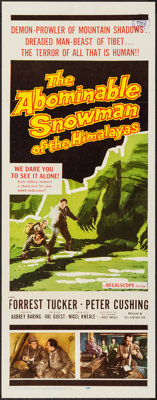 """The Abominable Snowman of the Himalayas (20th Century Fox, 1957). Insert (14"""" X 36""""). Horror"""