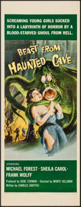 """Movie Posters:Horror, Beast from Haunted Cave (Film Group, 1959). Insert (14"""" X 36""""). Horror.. ..."""