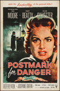 "Movie Posters:Crime, Postmark for Danger & Other Lot (RKO, 1955). One Sheets (2) (27"" X 41""). Crime.. ... (Total: 2 Items)"