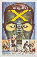 "Movie Posters:Science Fiction, X - The Man with the X-Ray Eyes (American International, 1963). OneSheet (27"" X 41"") Flat Folded. Science Fiction.. ..."