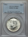 Kennedy Half Dollars: , 1964 50C Doubled Die Reverse , FS-801 MS64 PCGS. PCGS Population(3/2). Mintage: 273,300,000. ...