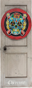 "Movie/TV Memorabilia:Props, A Prop Door from ""The Expendables.""... (Total: 2 Items)"
