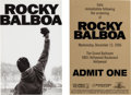 "Movie/TV Memorabilia:Memorabilia, A Set of Passes for the Premiere of ""Rocky Balboa.""... (Total: 2Items)"