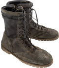 "Movie/TV Memorabilia:Costumes, A Pair of Combat Boots from ""Rambo: First Blood Part II.""..."