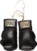 Movie/TV Memorabilia:Memorabilia, 1980 Muhammad Ali Training Worn Gloves Inscribed to Stallone....