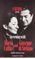 """Movie Posters:Musical, An Evening with Maria Callas and Giuseppe di Stefano (Hurok Concerts, 1974). Three Sheet (41"""" X 69"""") & Photos (6) (7.5"""" X 8""""... (Total: 7 Items)"""