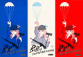 "Movie Posters:Comedy, Babette Goes to War (Columbia, 1960). French Affiches (3) (15"" X 31"").. ... (Total: 3 Items)"