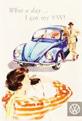 "Movie Posters:Miscellaneous, Volkswagen Advertising Poster by Hans Looser (K.G. Lohse, Frankfurt-Main, 1956). Poster (31.75"" X 47"").. ..."