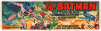 "The Batman (Columbia, 1943). Studio Issued Cloth Banner (35"" X 117"")"