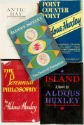 Books:Literature 1900-up, Aldous Huxley. Group of Five Books. Various publishers, 1923 -1962. . ... (Total: 5 Items)