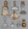 Art Glass:Other , Eight Various Glass Perfume Bottles. Circa 1925-1940. . Baccaratfor Houbigant Subtilite Buddha, Hattie Carnegie,Fa... (Total: 16 Items)