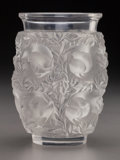 Art Glass:Lalique, R. Lalique Clear and Frosted Glass Bagatelle Vase. Circa1950. Engraved Lalique France. M p. 471, No. 10-9...