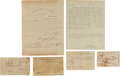 Military & Patriotic:Civil War, Confederate Soldiers Parole, Amnesty Oath and More.... (Total: 6 Items)