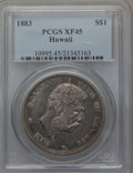 Coins of Hawaii: , 1883 $1 Hawaii Dollar XF45 PCGS. PCGS Population (183/273). NGCCensus: (74/219). Mintage: 500,000. ...
