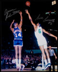 Autographs:Bats, Oscar Robertson and Bill Russell Multi Signed Photograph....