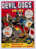 Golden Age (1938-1955):War, Devil Dogs #1 (Street & Smith, 1942) Condition: FN/VF....