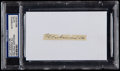Boxing Collectibles:Autographs, Muhammad Ali Signed Cut Signature....