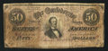 Confederate Notes:1864 Issues, Advertising Note T66 $50 1864 PF-2 Cr. 496.. ...