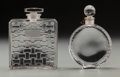 Art Glass:Lalique, Two Lalique Clear and Frosted Glass Perfumes. R. Lalique Houbigant Chypre & Nina Ricci L'Air Du Temps.. Circa 1925-1... (Total: 2 Items)